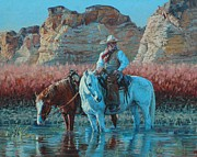 Mexican Horse Paintings - Vaquero by Jim Clements