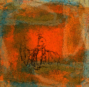 Frontier Art Mixed Media Prints - Vaquero Print by R Kyllo