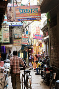 Varanasi Street Print by Money Sharma