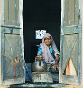Hardship Framed Prints - Varanasi Water Seller Framed Print by Shaun Higson