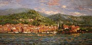 R W Goetting Framed Prints - Varenna Italy Framed Print by R W Goetting