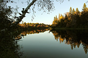 Riverscape - Early Autumn Framed Prints - Variations on a Theme Framed Print by Michael David James