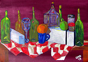 Boxes Paintings - Varied Still Life by Greg Mason Burns