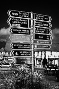 Westport Posters - Various Road Direction Signs In Westport County Mayo Republic Of Ireland Poster by Joe Fox