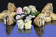 Ethnic Food Posters - Various Types Of Sushi  Poster by PhotoStock-Israel