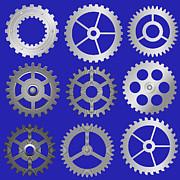 Various Vector Gears Print by Michal Boubin