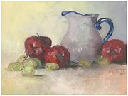 Carrie Williams - Vase Apples and Grapes