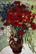 Marguerites Framed Prints - Vase avec Marguerites Framed Print by Vincent Van Gogh