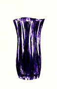 Glass Object Posters - Vase in Indigo Poster by Michael Vigliotti