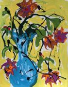 Vase Of Flowers Print by Alison Caltrider