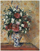 Pissarro Prints - Vase of Flowers Print by Camille Pissarro