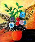 Vase Of Flowers Print by Mauro Beniamino Muggianu