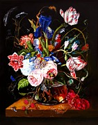 Heem Art - Vase of Flowers by Terry  Stokely