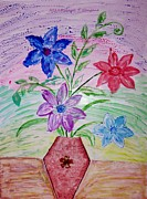Best Wishes Posters - Vase of Happiness Poster by Sonali Gangane