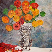 Nina Mitkova - Vase with bird