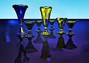 Vases Viii Print by Ramon Martinez