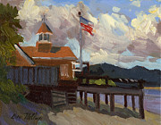 July 4th Paintings - Vashon Island 4th of July by Diane McClary