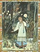 Slavic Painting Posters - Vasilisa the Beautiful Poster by Pg Reproductions