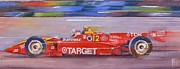 Indy Car Painting Framed Prints - Vasser Framed Print by Robert Hooper