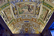 Vatican City Framed Prints - Vatican Ceiling Paintings Framed Print by Jon Berghoff