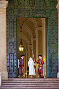 Uniforms Prints - Vatican Entrance Print by Brian Jannsen