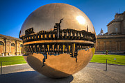 Metal Tree Sculpture Posters - Vatican Garden Sphere Poster by Erik Brede