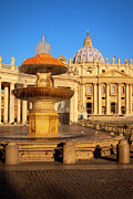 Domes Prints - Vatican Morning Print by Brian Jannsen