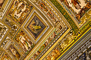 Vatican City Framed Prints - Vatican Museum Ceiling Artwork Framed Print by Jon Berghoff
