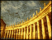 Vatican Digital Art Framed Prints - Vatican Pillars Framed Print by Ellen Cannon