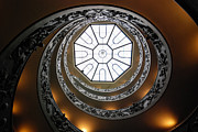 Helix Framed Prints - Vatican Staircase Framed Print by David Waldo