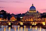 Domes Prints - Vatican Twilight Print by Brian Jannsen