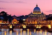 Vatican Twilight Print by Brian Jannsen