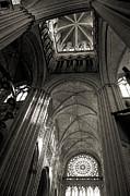 Vaults Posters - Vaults of Rouen Cathedral Poster by RicardMN Photography
