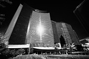 Vdara Prints - vdara condo hotel and spa and cosmopolitan hotel and casino Las Vegas Nevada USA Print by Joe Fox