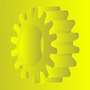 Vector Gears Print by Michal Boubin