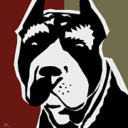 Dog Pop Art Digital Art - Vector Pit  by Mark Ashkenazi