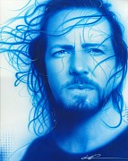 Eddie Vedder Framed Prints Posters - Vedder Poster by Christian Chapman Art