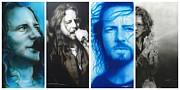 Celebrities Painting Prints - Vedder Mosaic I Print by Christian Chapman Art