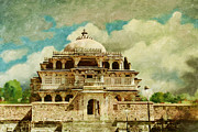 National Painting Posters - Vedi Temple in Kambalgarh Fort Poster by Catf