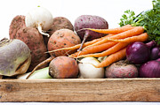 Potato Framed Prints - Veg Box Framed Print by Anne Gilbert