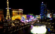 Vegas At Night Print by Barbara Chichester