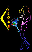 Vegas Girls Print by Stefan Kuhn