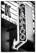 Las Vegas Artist Photo Prints - Vegas Tattoo Print by John Rizzuto