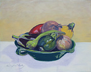 Winifred Lesley - Vege in Green Bowl