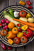 Vegetable Prints - Vegetable basket    Print by Garry Gay