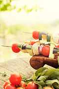 Barbecue Photos - Vegetable kebab by Mythja  Photography