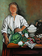 William Cain - Vegetable Lady Wall Art