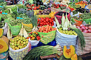 Low-calorie Prints - Vegetables and Fruits Print by Yaromir Mlynski
