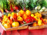 Pepper Art - Vegetables - Peppers at Farmers Market by Susan Savad