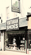 Footwear Posters - Vegetarian Shoes Poster by Jasna Buncic